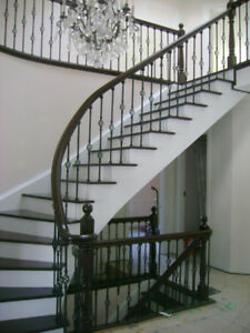 Hardwood laminate and staircase