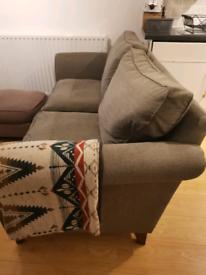 John Lewis Grey sofa and armchair