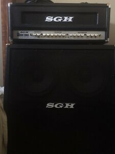 "SGH  200W  half stack with 4x12"" cab. 400$ Mint condition"
