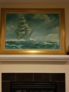 James A. Mitchell painting of the Sea