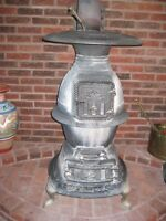 antique coal or wood burning stove