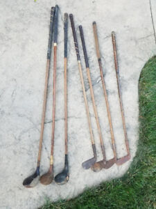 Antique Hickory wood  Golf Clubs