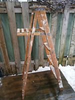 Vintage Wooden 5 Foot Step Ladder