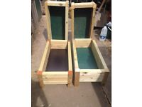 Handmade wooden planters