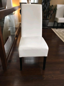 Vynil leatherette wooden chairs 10, 8 or 6