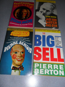 4 pack books by Pierre Berton.$4.