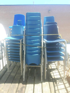 Stacking chairs - 30 youth, 21 jr.