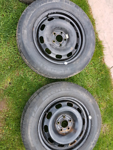 Michelin summer tires    195/65/r15  new tires with steelies