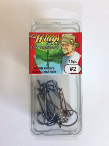 Worm Hooks - Fishing Tackle - Willy's Bait Company