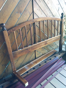 Double bed frame with mattress for sell 40$