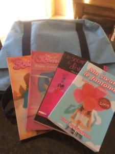 4 romans « jeunes filles » et sac