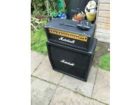 Marshall MG100HDFX Half Stack Amplifier with pedal