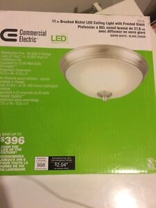 11 in Brushed Nicole LED Ceiling Light - brand new