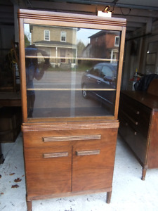 gibbard solid wood china cabinet with glass doors in great cond