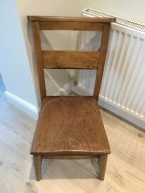 Pair of Vintage Wooden Church Bible Chairs