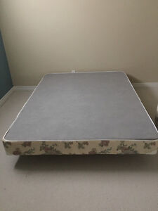 Queen size box spring mattress with frame Kitchener / Waterloo Kitchener Area image 2