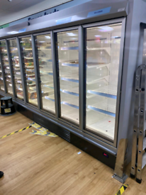 Commercial frozen foods display freezer fully working good condition