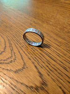 Steel Rune-inscribed Ring
