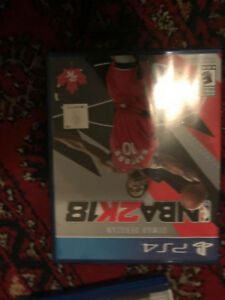 Selling NBA 2k18 PS4 3 months old