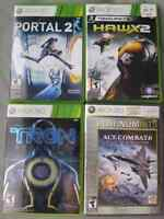 Portal 2, TC Hawx 2, Tron Evolution, Ace Combat 6