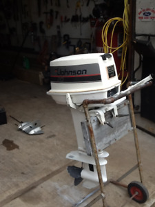 20 hp Johnson outboard  converted to 30hp