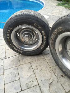 "Pair of gm corvette camaro chevelle s-10 montecarlo 8"" rims nova"