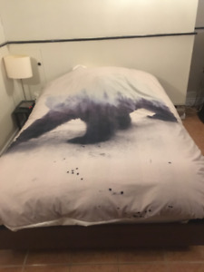 Double Bed & Mattress Set - Can Deliver Downtown Nov. 1