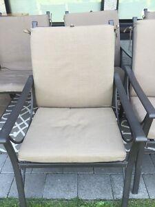 8 patio chairs plus Loveseat
