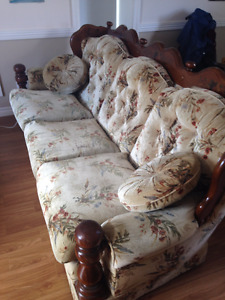 Couch & Rocking Arm Chair