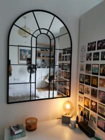 Arch Window Mirror, Black
