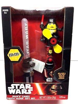 Star Wars Darth Vader Gift Set M&M dispenser  Light Saber Mini Fan Disney New - M&m Lightsaber