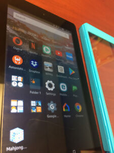 Amazon Fire 7 tablet and stand/case
