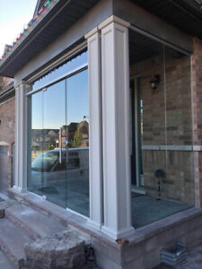 10mm Tempered Glass Entrance Doors & Mirror & Stairs