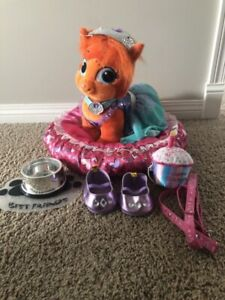 Build a Bear plush cat and accessories