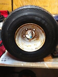 18.5 x 8.50-8 Spare Trailer Tire w/ 5-bolt Steel Rim
