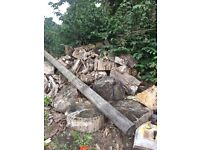 Firewood logs for sale yard clearance