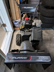 Tuned and ready! Murray snowblower