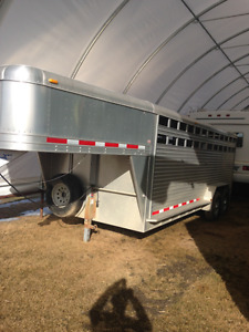 20ft featherlite stock aluminum trailer