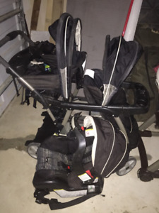 Graco Stand and Ride Double Stroller System (incl. Car Seat)