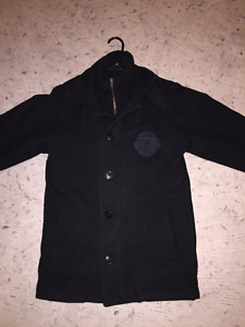 P-Coat Black with Waterloo Wolves Crest