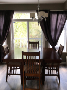 dinning table and 8 chairs - Moving Sale