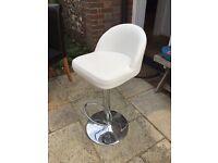 White adjustable stool