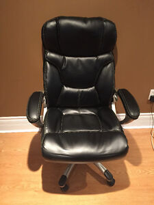 Bonded-Leather Executive Chair, Black