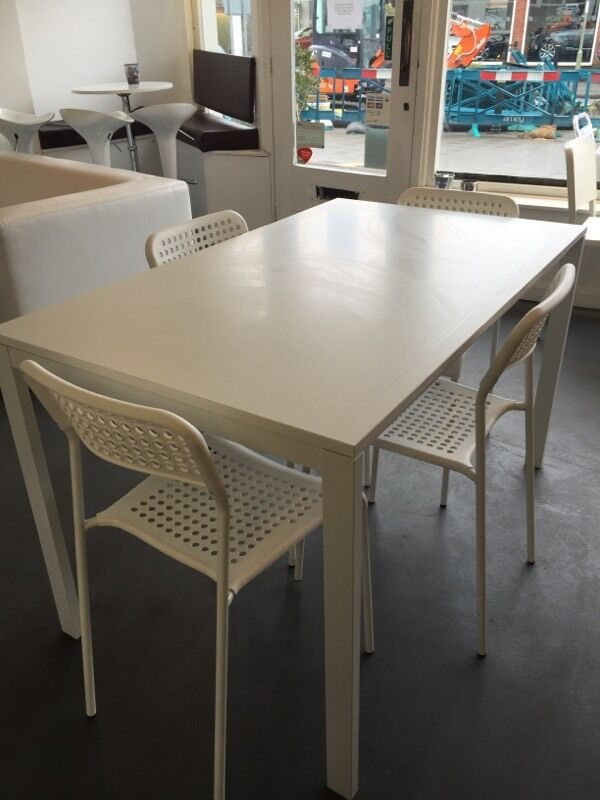 4 seat ikea melltorp table 4 adde chairs in fareham hampshire gumtree. Black Bedroom Furniture Sets. Home Design Ideas