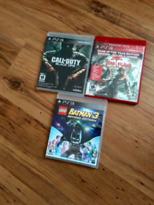 Selling  PS 3games
