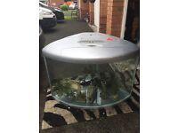 175 Litre Fish Tank Aquarium & Stand Aqua One Silver UFO 700 Corner tank