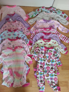 Lots 12-18m girl sleepers(26 pieces)