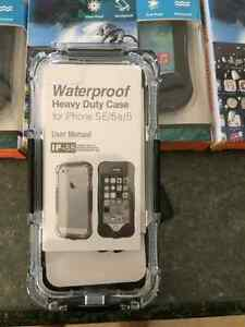 New Amour water proof cases 5-5s black $35
