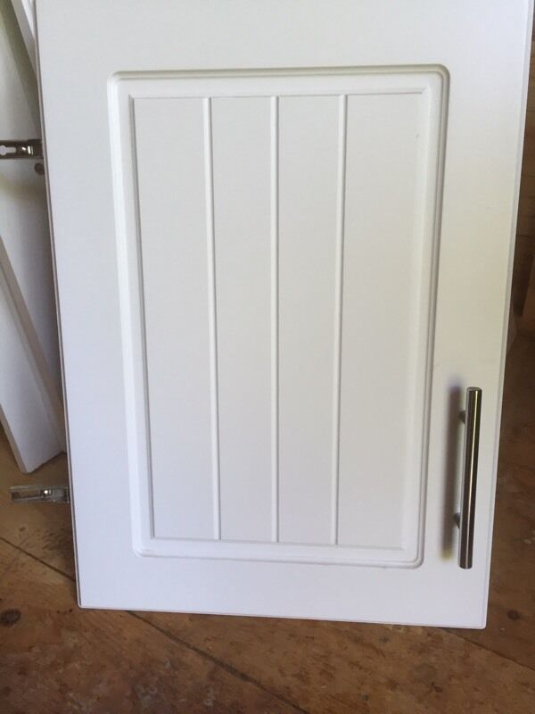 Kitchen cupboard doors white b q style in for Country style kitchen b q