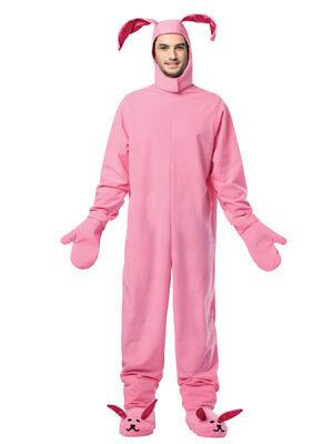Adult Christmas Pink Bunny Costume - Adult Pink Bunny Costume